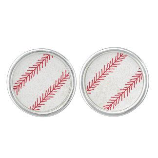 Baseball-Stich-Stulpen-Verbindungen Manschettenknöpfe