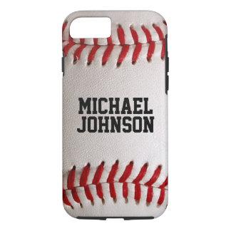 Baseball trägt Beschaffenheit mit personalisiertem iPhone 8/7 Hülle
