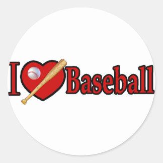 Baseball trägt Liebhaber-Geschenke zur Schau Runder Aufkleber
