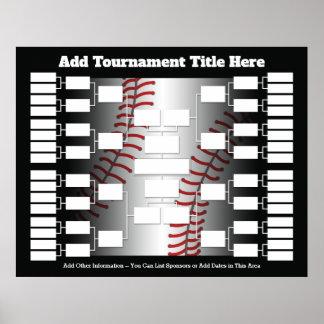 Baseball-Turnier-Klammer für 32 Teams Poster