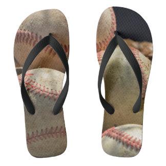 Baseball und Handschuh Flip Flops