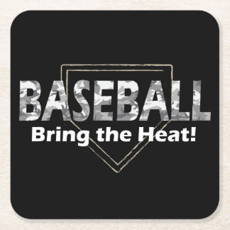Baseball-Untersetzer Rechteckiger Pappuntersetzer