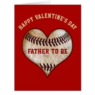Baseball-Valentinstag-Karten, damit der Vater ist Karte