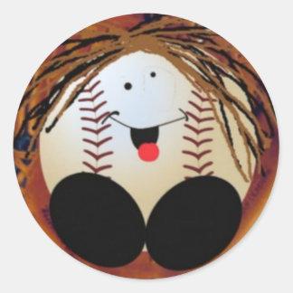 Baseballbaby Runder Aufkleber