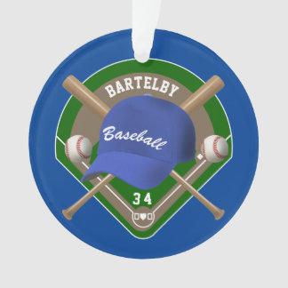Baseballmütze schlägt Diamant-personalisierte Ornament