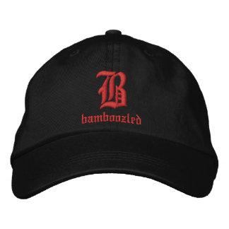 Baseballmütze-Schwarzes/Rot der verwirrten Männer Bestickte Kappe