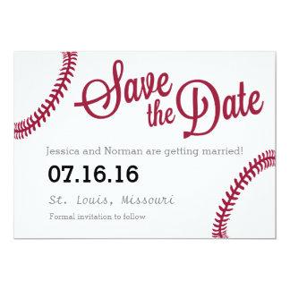 Baseballthema Save the Date Karte