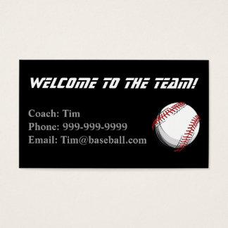 Baseballtrainer-Kontaktkarte Visitenkarte