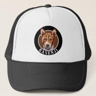 Basenji Hund 002 Truckerkappe