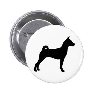 Basenji Hund (im Schwarzen) Runder Button 5,1 Cm