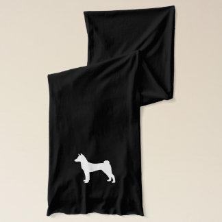 Basenji HundeSilhouette Schal