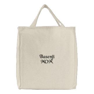 Basenji Mamma-Stickerei Bestickte Tragetasche