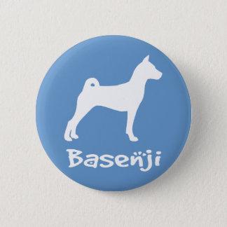 Basenji mit coolem Text (im Weiß) Runder Button 5,7 Cm