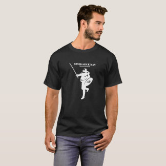 Basiertes stickman weißes Logo-Shirt T-Shirt