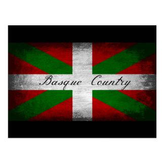 Baskenland beunruhigte Flagge Postkarten
