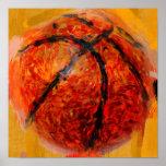 Basket-ball abstrait affiche