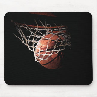 Basketball-Ball in der Aktion Mousepads