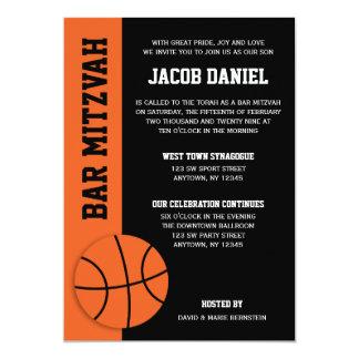 Basketball-Bar Mitzvah 12,7 X 17,8 Cm Einladungskarte