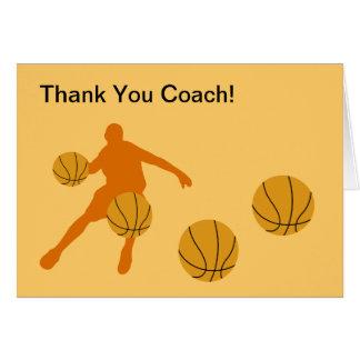 Basketball danken Ihnen Karten