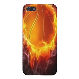 Basketball des Feuers Etui Fürs iPhone 5