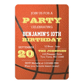Basketball-Geburtstags-Anlass-Einladung 12,7 X 17,8 Cm Einladungskarte