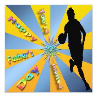 Basketball - glückliche der Vatertags-Einladung Quadratische 13,3 Cm Einladungskarte
