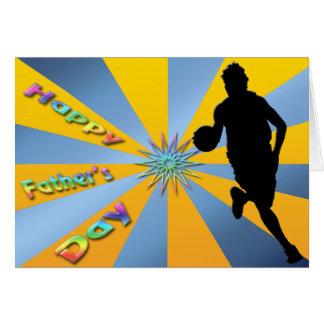 Basketball - glückliche der Vatertags-Karte Grußkarte