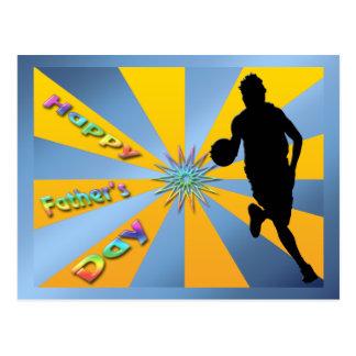 Basketball - glückliche der Vatertags-Postkarte