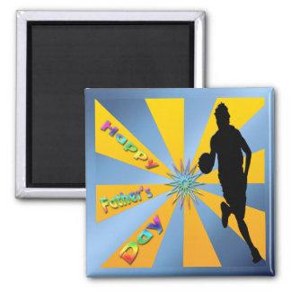 Basketball - glücklicher der Vatertags-Magnet Magnete
