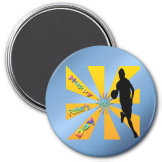 Basketball - glücklicher der Vatertags-Magnet Kühlschrankmagnet