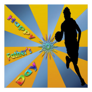 Basketball - glückliches der Vatertags-Plakat