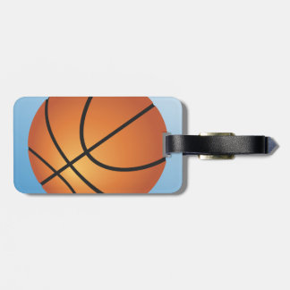 Basketball-Ikonen-Blau-Hintergrund Kofferanhänger