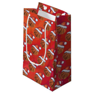 Basketball im Weihnachtsmannmütze-Muster Kleine Geschenktüte