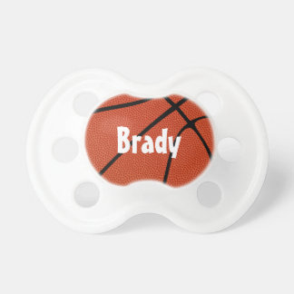 Basketball-kundenspezifischer Baby-Namen-Schnuller Schnuller