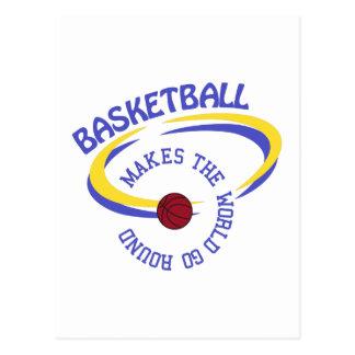 Basketball lässt die Welt sich drehen Postkarte