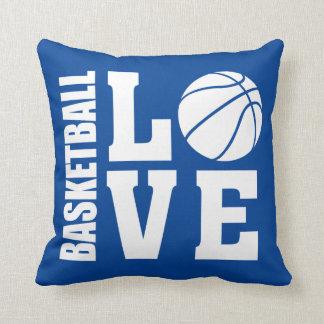 Basketball-Liebe-Blau Kissen