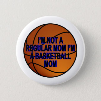 Basketball-Mamma-T-Shirts .png Runder Button 5,7 Cm