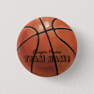 Basketball Runder Button 2,5 Cm
