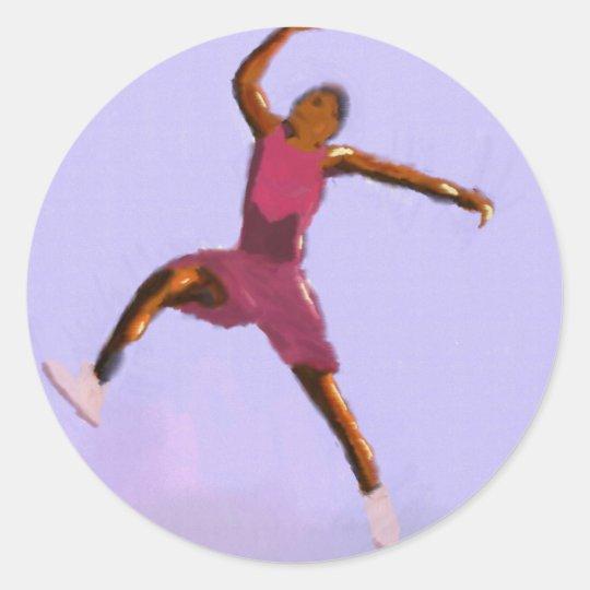Basketball-Spiel-Kunst Runder Aufkleber