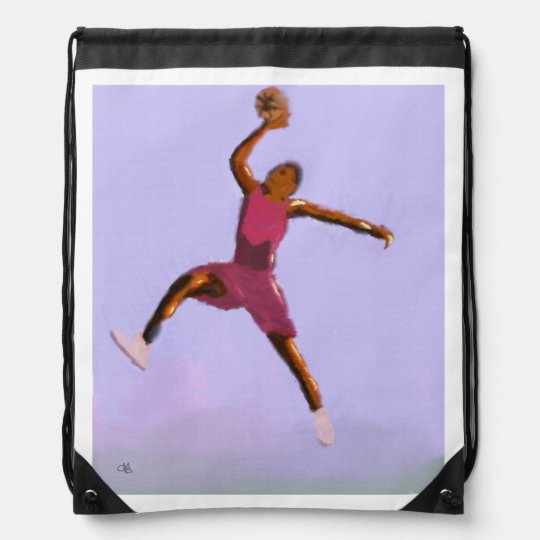 Basketball-Spiel-Kunst Turnbeutel