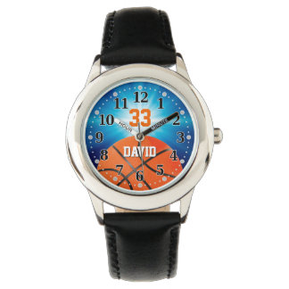 Basketball-Spieler Nr. | lustiges Personalizable Armbanduhr