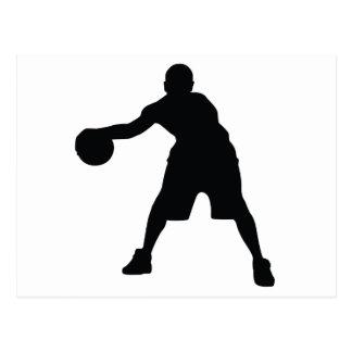 Basketball-Spieler Postkarte
