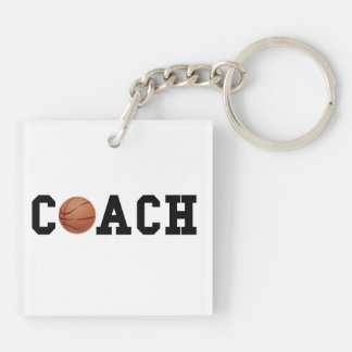 Basketball-Trainer Beidseitiger Quadratischer Acryl Schlüsselanhänger