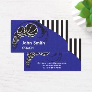 Basketball-Trainer - Blau Visitenkarte