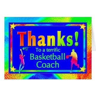 Basketball-Trainer danken Ihnen zu kardieren Grußkarte