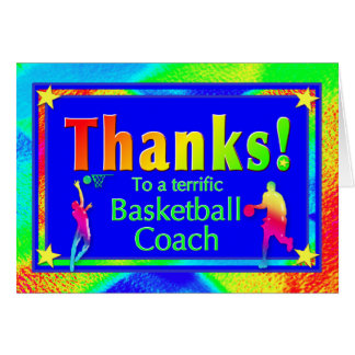 Basketball-Trainer danken Ihnen zu kardieren Karte