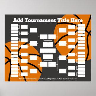 Basketball-Turnier-Klammer Poster