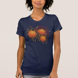 Basketball und Feuerwerk-Shirt T-Shirt