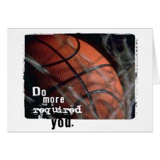 Basketballermutigung Grußkarte