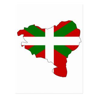 Baskische Flaggenkarte Postkarte